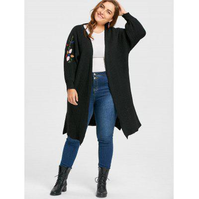 Plus Size Collarless Ribbed Embroidered Long CardiganPlus Size<br>Plus Size Collarless Ribbed Embroidered Long Cardigan<br><br>Collar: Collarless<br>Elasticity: Elastic<br>Material: Polyester<br>Package Contents: 1 x Cardigan<br>Pattern Type: Floral<br>Season: Winter, Fall<br>Sleeve Length: Full<br>Style: Fashion<br>Type: Cardigans<br>Weight: 0.9100kg
