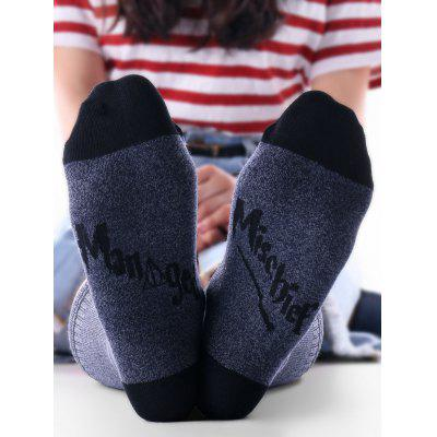 Mischief Printed Two Tone Ankle Socks