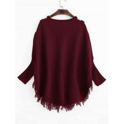 V Neck Tassels Dolman Sleeve SweaterSweaters &amp; Cardigans<br>V Neck Tassels Dolman Sleeve Sweater<br><br>Collar: V-Neck<br>Material: Polyester<br>Package Contents: 1 x Sweater<br>Sleeve Length: Full<br>Style: Fashion<br>Type: Pullovers<br>Weight: 0.5000kg