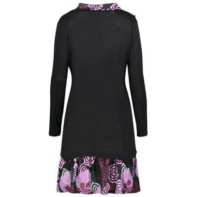 Plus Size Long Sleeve Flounce Floral Panel V Neck T-shirtPlus Size Tops<br>Plus Size Long Sleeve Flounce Floral Panel V Neck T-shirt<br><br>Collar: V-Neck<br>Embellishment: Button,Ruffles<br>Material: Cotton Blends, Polyester<br>Package Contents: 1 x Tee<br>Pattern Type: Floral, Print<br>Season: Winter, Fall<br>Shirt Length: Long<br>Sleeve Length: Full<br>Style: Fashion<br>Weight: 0.4200kg