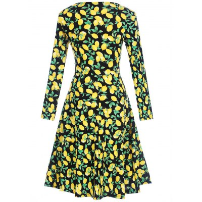 Long Sleeve Lemon Print Surplice DressWomens Dresses<br>Long Sleeve Lemon Print Surplice Dress<br><br>Dresses Length: Knee-Length<br>Material: Polyester<br>Neckline: V-Neck<br>Package Contents: 1 x Dress<br>Pattern Type: Others<br>Season: Fall, Spring<br>Silhouette: Shift<br>Sleeve Length: Long Sleeves<br>Style: Cute<br>Weight: 0.3200kg<br>With Belt: No