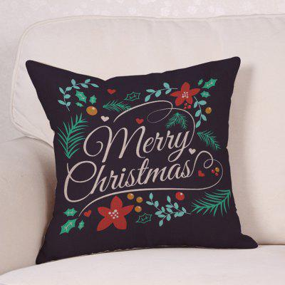 Merry Christmas Leaves Print Linen PillowcasePillow<br>Merry Christmas Leaves Print Linen Pillowcase<br><br>Material: Linen<br>Package Contents: 1 x Pillowcase<br>Pattern: Letter,Plant<br>Shape: Square<br>Style: Festival<br>Weight: 0.0900kg