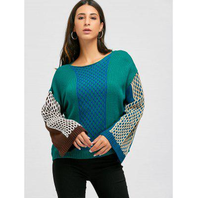 Geometry Drop Shoulder SweaterSweaters &amp; Cardigans<br>Geometry Drop Shoulder Sweater<br><br>Collar: Round Neck<br>Material: Polyester, Spandex<br>Package Contents: 1 x Sweater<br>Pattern Type: Geometric<br>Season: Spring, Fall<br>Sleeve Length: Full<br>Style: Fashion<br>Type: Pullovers<br>Weight: 0.5200kg