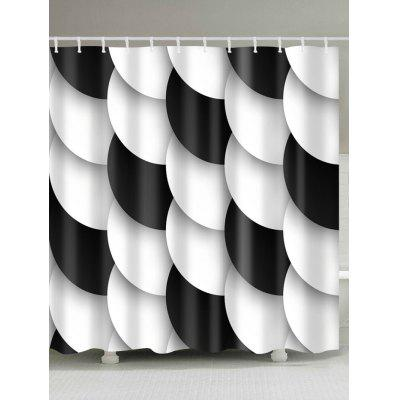 3D Fish Scales Print Waterproof Polyester Shower Curtain