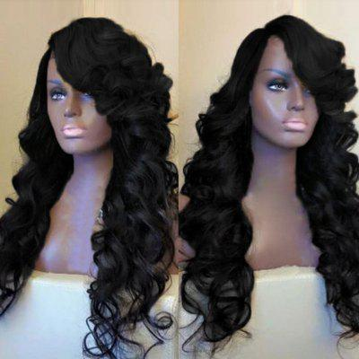 Side Parting Long Fluffy Loose Wave Synthetic Wig