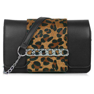 Buy YELLOW Leopard Print Chain Crossbody Bag for $24.92 in GearBest store