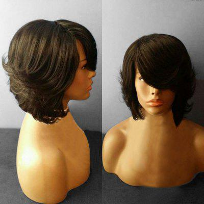 Medium Side Parting Feathered Straight Synthetic Wig