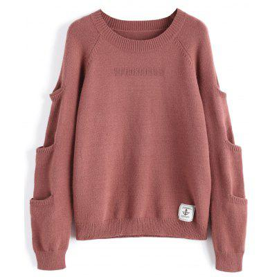 Raglan Sleeve Anchor Patch Jumper Sweater