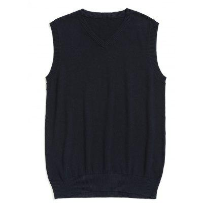 Buy PURPLISH BLUE 3XL Mens V Neck Sweater Vest for $24.18 in GearBest store
