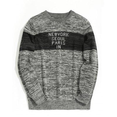 Graphic Heathered Mens Sweater