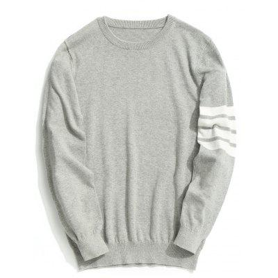 Striped Sleeve Mens Knitwear