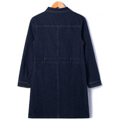 Patch Pocket Button Up Denim CoatJackets &amp; Coats<br>Patch Pocket Button Up Denim Coat<br><br>Clothes Type: Others<br>Collar: Shirt Collar<br>Material: Polyester<br>Package Contents: 1 x Coat<br>Pattern Type: Solid<br>Season: Fall, Spring<br>Shirt Length: Long<br>Sleeve Length: Full<br>Style: Casual<br>Type: Wide-waisted<br>Weight: 0.6000kg