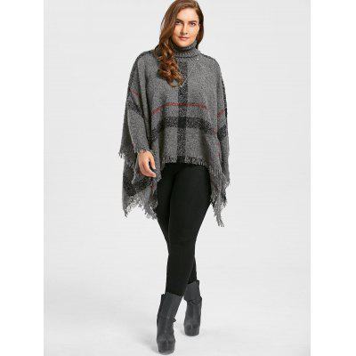 Print Turtleneck Plus Size Cape SweaterPlus Size<br>Print Turtleneck Plus Size Cape Sweater<br><br>Collar: Turtleneck, Turtleneck<br>Material: Spandex, Polyester<br>Package Contents: 1 x Sweater, 1 x Sweater<br>Pattern Type: Striped, Striped<br>Season: Winter, Winter, Fall, Fall<br>Sleeve Length: Full<br>Style: Fashion, Fashion<br>Type: Pullovers<br>Weight: 0.5800kg, 0.5800kg