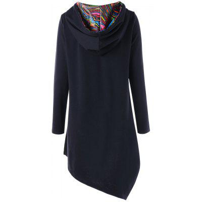 High Low Long Tunic Pullover HoodieSweatshirts &amp; Hoodies<br>High Low Long Tunic Pullover Hoodie<br><br>Material: Cotton, Polyester, Spandex<br>Package Contents: 1 x Hoodie<br>Pattern Style: Striped<br>Season: Fall, Spring<br>Shirt Length: Long<br>Sleeve Length: Full<br>Style: Fashion<br>Weight: 0.5200kg