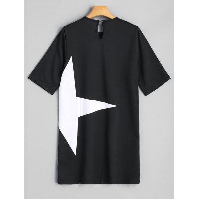 Star Graphic Mini Tunic DressWomens Dresses<br>Star Graphic Mini Tunic Dress<br><br>Dress Type: Tee Dress,Tunic Dress<br>Dresses Length: Mini<br>Material: Cotton, Polyester<br>Neckline: Round Collar<br>Occasion: Causal<br>Package Contents: 1 x Dress<br>Pattern Type: Star<br>Season: Fall<br>Silhouette: Straight<br>Sleeve Length: Half Sleeves<br>Style: Casual<br>Weight: 0.3600kg<br>With Belt: No