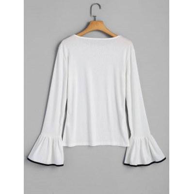 Ruffle Long Sleeve TopTees<br>Ruffle Long Sleeve Top<br><br>Collar: Round Neck<br>Material: Cotton, Polyester<br>Package Contents: 1 x Top<br>Pattern Type: Solid<br>Seasons: Autumn<br>Shirt Length: Regular<br>Sleeve Length: Full<br>Style: Casual<br>Weight: 0.2700kg
