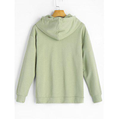 Embroidered Kangaroo Pocket HoodieSweatshirts &amp; Hoodies<br>Embroidered Kangaroo Pocket Hoodie<br><br>Clothing Style: Hoodie<br>Material: Cotton<br>Neckline: Hooded<br>Package Contents: 1 x Hoodie<br>Pattern Style: Letter<br>Shirt Length: Regular<br>Sleeve Length: Full<br>Weight: 0.5300kg