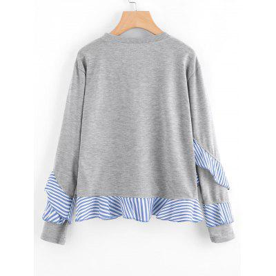 Drop Shoulder Striped Ruffle Trim SweatshirtSweatshirts &amp; Hoodies<br>Drop Shoulder Striped Ruffle Trim Sweatshirt<br><br>Clothing Style: Sweatshirt<br>Material: Polyester<br>Package Contents: 1 x Sweatshirt<br>Pattern Style: Striped<br>Shirt Length: Regular<br>Sleeve Length: Full<br>Weight: 0.3850kg