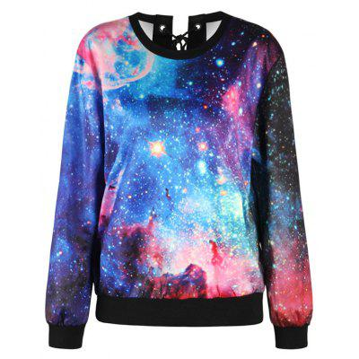 Starry Sky Print Drop Shoulder Lace Up SweatshirtSweatshirts &amp; Hoodies<br>Starry Sky Print Drop Shoulder Lace Up Sweatshirt<br><br>Material: Polyester<br>Package Contents: 1 x Sweatshirt<br>Pattern Style: Print<br>Season: Fall, Spring<br>Shirt Length: Regular<br>Sleeve Length: Full<br>Style: Casual<br>Weight: 0.4000kg