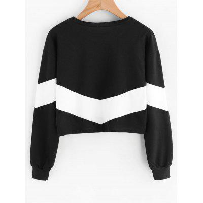 Drop Shoulder Contrast Crop SweatshirtSweatshirts &amp; Hoodies<br>Drop Shoulder Contrast Crop Sweatshirt<br><br>Clothing Style: Sweatshirt<br>Material: Polyester<br>Package Contents: 1 x Sweatshirt<br>Pattern Style: Patchwork<br>Shirt Length: Short<br>Sleeve Length: Full<br>Weight: 0.3300kg