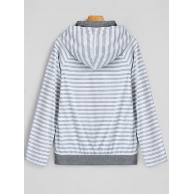 Panel Raglan Sleeve Stripe HoodieSweatshirts &amp; Hoodies<br>Panel Raglan Sleeve Stripe Hoodie<br><br>Clothing Style: Hoodie<br>Elasticity: Micro-elastic<br>Material: Polyester<br>Neckline: Hooded<br>Package Contents: 1 x Hoodie<br>Pattern Style: Striped<br>Shirt Length: Regular<br>Sleeve Length: Full<br>Weight: 0.3700kg