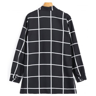 Plaid Side Slit ShirtBlouses<br>Plaid Side Slit Shirt<br><br>Collar: Shirt Collar<br>Elasticity: Nonelastic<br>Embellishment: Front Pocket<br>Material: Cotton, Polyester<br>Occasion: Casual<br>Package Contents: 1 x Shirt<br>Pattern Type: Plaid<br>Seasons: Autumn<br>Shirt Length: Long<br>Sleeve Length: Full<br>Style: Casual<br>Weight: 0.2900kg
