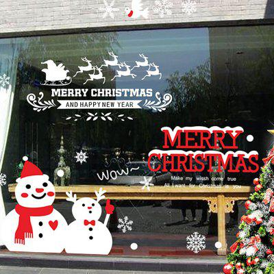 Christmas Snowman Glass Window Wall Art StickerWall Stickers<br>Christmas Snowman Glass Window Wall Art Sticker<br><br>Feature: Removable<br>Functions: Decorative Wall Stickers<br>Material: PVC<br>Package Contents: 1 x Wall Sticker<br>Pattern Type: Snowman<br>Theme: Christmas<br>Wall Sticker Type: Plane Wall Stickers<br>Weight: 0.1274kg