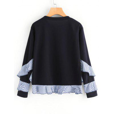 Drop Shoulder Striped Ruffle Trim SweatshirtSweatshirts &amp; Hoodies<br>Drop Shoulder Striped Ruffle Trim Sweatshirt<br><br>Clothing Style: Sweatshirt<br>Material: Polyester<br>Package Contents: 1 x Sweatshirt, 1 x Sweatshirt<br>Pattern Style: Striped, Striped<br>Shirt Length: Regular<br>Sleeve Length: Full<br>Weight: 0.3850kg, 0.3850kg