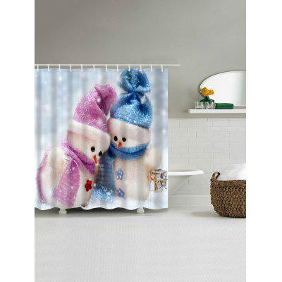 Christmas Snowman Couples Print Waterproof Shower CurtainShower Curtain<br>Christmas Snowman Couples Print Waterproof Shower Curtain<br><br>Materials: Polyester<br>Number of Hook Holes: W59 inch*L71 inch: 10; W71 inch*L71 inch: 12; W71 inch*L79 inch: 12<br>Package Contents: 1 x Shower Curtain 1 x Hooks (Set)<br>Pattern: Snowman<br>Products Type: Shower Curtains<br>Style: Festival