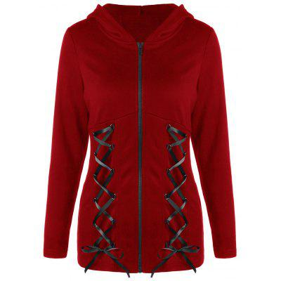 Double Lace-up Wings Print Zip Up HoodieSweatshirts &amp; Hoodies<br>Double Lace-up Wings Print Zip Up Hoodie<br><br>Material: Polyester<br>Package Contents: 1 x Hoodie<br>Pattern Style: Others<br>Season: Fall, Spring<br>Shirt Length: Regular<br>Sleeve Length: Full<br>Style: Fashion<br>Weight: 0.4810kg