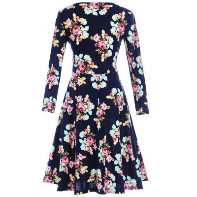 Surplice Long Sleeve Floral Print DressWomens Dresses<br>Surplice Long Sleeve Floral Print Dress<br><br>Dresses Length: Knee-Length<br>Material: Polyester, Spandex<br>Neckline: V-Neck<br>Package Contents: 1 x Dress<br>Pattern Type: Floral<br>Season: Spring, Fall<br>Silhouette: Shift<br>Sleeve Length: Long Sleeves<br>Style: Cute<br>Weight: 0.3200kg<br>With Belt: No