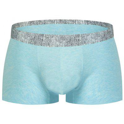Buy LIGHT BLUE M Elastic Waist U Convex Pouch Alligator Print Boxer Brief for $11.48 in GearBest store
