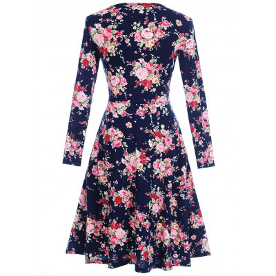 V Neck Long Sleeve Floral Print DressWomens Dresses<br>V Neck Long Sleeve Floral Print Dress<br><br>Dresses Length: Knee-Length<br>Material: Polyester, Spandex<br>Neckline: V-Neck<br>Package Contents: 1 x Dress<br>Pattern Type: Floral<br>Season: Spring, Fall<br>Silhouette: Shift<br>Sleeve Length: Long Sleeves<br>Style: Cute<br>Weight: 0.3200kg<br>With Belt: No
