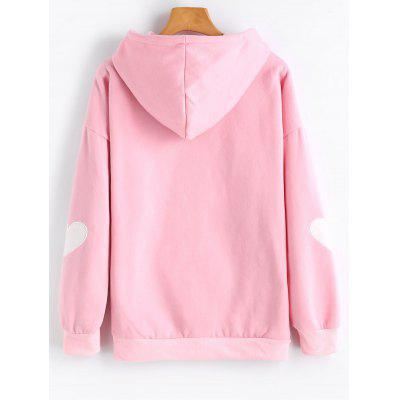 Heart Flocking Drop Shoulder HoodieSweatshirts &amp; Hoodies<br>Heart Flocking Drop Shoulder Hoodie<br><br>Clothing Style: Hoodie<br>Material: Polyester<br>Neckline: Hooded<br>Package Contents: 1 x Hoodie<br>Pattern Style: Heart<br>Shirt Length: Regular<br>Sleeve Length: Full<br>Weight: 0.4950kg