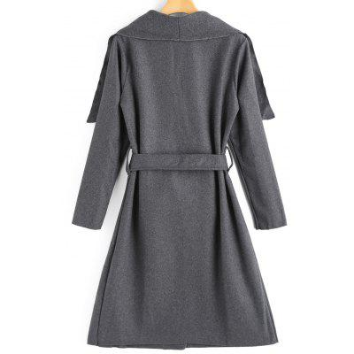 Belted Wool Blend Skirted CoatJackets &amp; Coats<br>Belted Wool Blend Skirted Coat<br><br>Clothes Type: Wool &amp; Blends<br>Collar: Turn-down Collar<br>Material: Cotton, Polyester, Wool<br>Package Contents: 1 x Coat  1 x Belt<br>Pattern Type: Solid<br>Shirt Length: Long<br>Sleeve Length: Full<br>Style: Fashion<br>Type: Skirted<br>Weight: 0.7300kg<br>With Belt: Yes