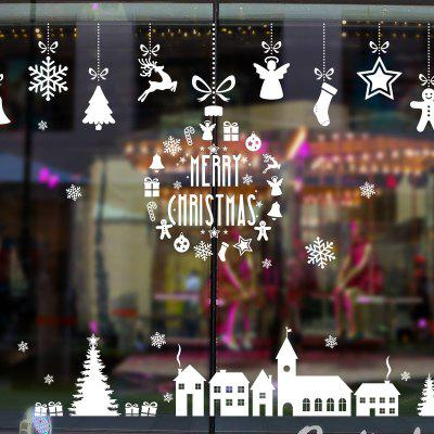 Christmas Elements Pattern Window Wall Art Decal