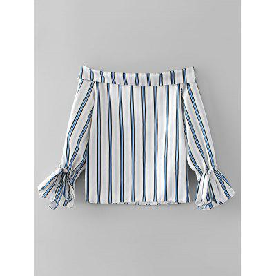 Off Shoulder Stripes Bow Tied Sleeve BlouseBlouses<br>Off Shoulder Stripes Bow Tied Sleeve Blouse<br><br>Collar: Off The Shoulder<br>Material: Cotton, Polyester<br>Occasion: Casual<br>Package Contents: 1 x Blouse<br>Pattern Type: Striped<br>Seasons: Autumn,Spring<br>Shirt Length: Regular<br>Sleeve Length: Full<br>Style: Fashion<br>Weight: 0.2300kg