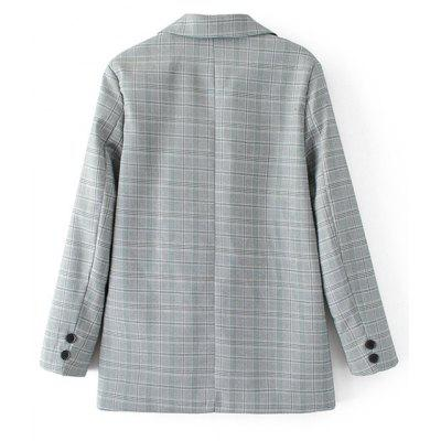 Checked Button Up BlazerBlazers<br>Checked Button Up Blazer<br><br>Collar: Lapel<br>Material: Cotton, Polyester<br>Package Contents: 1 x Blazer<br>Pattern Type: Plaid<br>Shirt Length: Long<br>Sleeve Length: Full<br>Weight: 0.6450kg