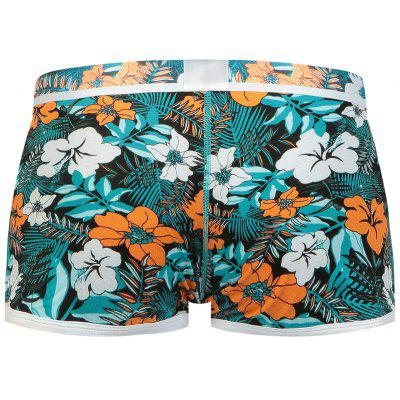 Elastic Waist U Convex Pouch Florals Print Boxer BriefMens Underwear &amp; Pajamas<br>Elastic Waist U Convex Pouch Florals Print Boxer Brief<br><br>Gender: Men<br>Material: Cotton, Spandex<br>Package Contents: 1 x Boxer Brief<br>Pattern Type: Floral<br>Type: Boxers<br>Weight: 0.1400kg