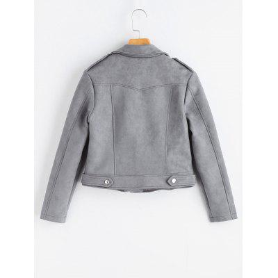 Inclined Zipper Faux Suede JacketJackets &amp; Coats<br>Inclined Zipper Faux Suede Jacket<br><br>Clothes Type: Jackets<br>Collar: Turn-down Collar<br>Embellishment: Zippers<br>Material: Polyester<br>Package Contents: 1 x Jacket<br>Pattern Type: Solid<br>Shirt Length: Regular<br>Sleeve Length: Full<br>Style: Fashion<br>Type: Wide-waisted<br>Weight: 0.7900kg