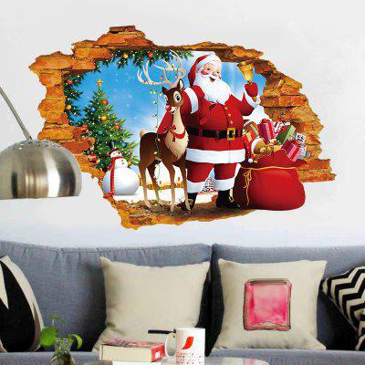 3D Hole Santa Claus Pattern Christmas Wall StickerWall Stickers<br>3D Hole Santa Claus Pattern Christmas Wall Sticker<br><br>Feature: Removable<br>Functions: Decorative Wall Stickers<br>Material: PVC<br>Package Contents: 1 x Wall Sticker<br>Pattern Type: Animal, Santa Claus<br>Theme: Christmas<br>Wall Sticker Type: 3D Wall Stickers<br>Weight: 0.1274kg