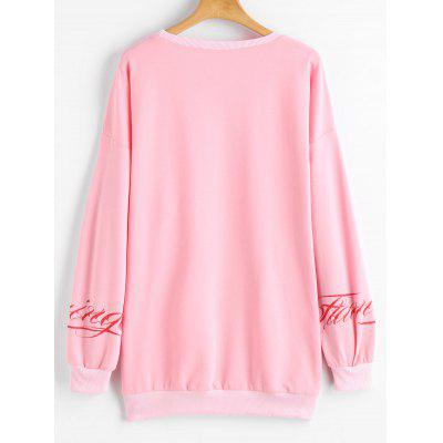 Flamingo Letter Print Drop Shoulder SweatshirtSweatshirts &amp; Hoodies<br>Flamingo Letter Print Drop Shoulder Sweatshirt<br><br>Clothing Style: Sweatshirt<br>Material: Polyester<br>Neckline: Round Collar<br>Package Contents: 1 x Sweatshirt<br>Pattern Style: Animal<br>Shirt Length: Long<br>Sleeve Length: Full<br>Weight: 0.3400kg
