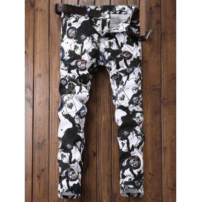 Zipper Fly Paint Splatter Geometric Print JeansMens Pants<br>Zipper Fly Paint Splatter Geometric Print Jeans<br><br>Closure Type: Zipper Fly<br>Fit Type: Regular<br>Material: Cotton, Polyester, Jean<br>Package Contents: 1 x Jeans<br>Pant Length: Long Pants<br>Pant Style: Straight<br>Wash: Bleach<br>Weight: 0.5200kg<br>With Belt: No