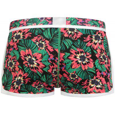Elastic Waist Convex Pouch Flowers Print UndershortsMens Underwear &amp; Pajamas<br>Elastic Waist Convex Pouch Flowers Print Undershorts<br><br>Gender: Men<br>Material: Cotton, Spandex<br>Package Contents: 1 x Undershorts<br>Pattern Type: Floral<br>Weight: 0.1700kg