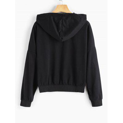 Letter Graphic Drop Shoulder HoodieSweatshirts &amp; Hoodies<br>Letter Graphic Drop Shoulder Hoodie<br><br>Clothing Style: Hoodie<br>Material: Polyester<br>Package Contents: 1 x Hoodie<br>Pattern Style: Letter<br>Shirt Length: Regular<br>Sleeve Length: Full<br>Weight: 0.3450kg