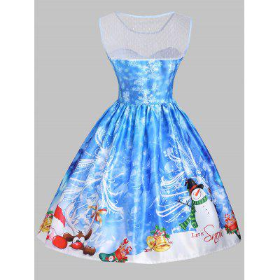 Christmas Snowman Snowflake Mesh Panel DressWomens Dresses<br>Christmas Snowman Snowflake Mesh Panel Dress<br><br>Dresses Length: Knee-Length, Knee-Length<br>Embellishment: Mesh, Mesh<br>Material: Polyester, Cotton, Polyester, Cotton<br>Neckline: Round Collar, Round Collar<br>Package Contents: 1 x Dress, 1 x Dress<br>Pattern Type: Letter, Print, Letter, Print<br>Season: Summer, Spring, Fall, Spring, Summer, Fall<br>Silhouette: A-Line, A-Line<br>Sleeve Length: Sleeveless, Sleeveless<br>Style: Vintage<br>Weight: 0.3500kg, 0.3500kg<br>With Belt: No, No