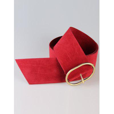 Retro Metal Round Buckle Decorated Suede High Waist BeltWomens Belts<br>Retro Metal Round Buckle Decorated Suede High Waist Belt<br><br>Belt Length: 100CM<br>Belt Material: Suede<br>Belt Silhouette: Buckle<br>Belt Width: 7.5CM<br>Gender: For Women<br>Group: Adult<br>Package Contents: 1 x Belt<br>Pattern Type: Others<br>Style: Vintage<br>Weight: 0.0870kg