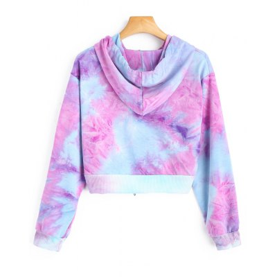 Cropped Tie Dye HoodieSweatshirts &amp; Hoodies<br>Cropped Tie Dye Hoodie<br><br>Clothing Style: Hoodie<br>Material: Cotton, Polyester<br>Neckline: Hooded<br>Package Contents: 1 x Hoodie<br>Pattern Style: Tie Dye<br>Shirt Length: Short<br>Sleeve Length: Full<br>Weight: 0.3400kg