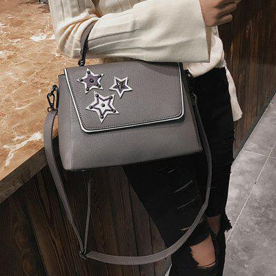 Pentagram Pattern Rivets Faux Leather Crossbody BagCrossbody Bags<br>Pentagram Pattern Rivets Faux Leather Crossbody Bag<br><br>Closure Type: Cover<br>Gender: For Women<br>Handbag Size: Small(20-30cm)<br>Handbag Type: Crossbody bag<br>Main Material: PU<br>Occasion: Versatile<br>Package Contents: 1 x Crossbody Bag<br>Package Size(L x W x H): 30.00 x 5.00 x 20.00 cm / 11.81 x 1.97 x 7.87 inches<br>Pattern Type: Star<br>Size(CM)(L*W*H): 25*11*20<br>Style: Fashion<br>Weight: 0.6000kg