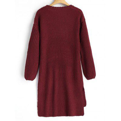 High Low Slit Longline SweaterSweater Dresses<br>High Low Slit Longline Sweater<br><br>Dresses Length: Knee-Length<br>Material: Acrylic, Cotton, Polyester<br>Neckline: Turtleneck<br>Occasion: Casual, Going Out<br>Package Contents: 1 x Sweater<br>Pattern Type: Others<br>Season: Fall, Spring<br>Sleeve Length: Long Sleeves<br>Weight: 0.5800kg<br>With Belt: No